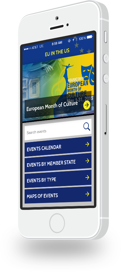 EUintheUS Events apps for iOS and Android